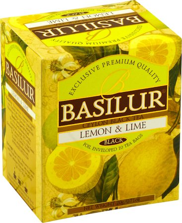 Basilur Magic Fruits Lemon and Lime Tea (10 tea bags)