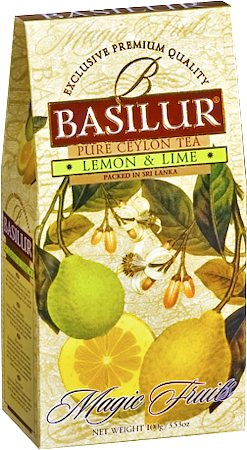 Basilur Magic Fruits Lemon and Lime Loose Leaf Tea 100 gm