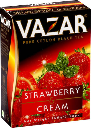 Vazar Strawberry & Cream Black Tea, Loose Leaf 100 gm