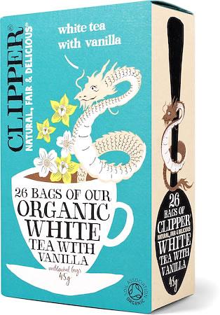 Clipper Organic White Tea with Vanilla (26 tea bags)