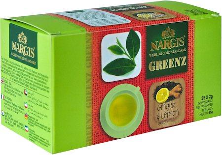 Nargis Greenz Ginger Lemon Organic Green Tea (25 tea bags)