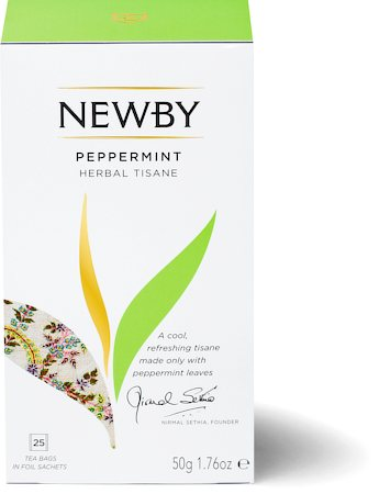 Newby Peppermint Herbal Tisane (25 tea bags)