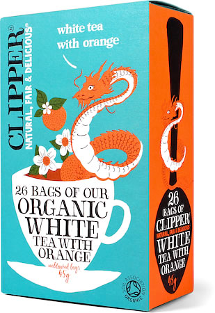 Clipper Organic White Tea with Orange (26 tea bags)