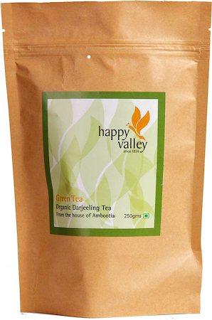 Happy Valley Organic Darjeeling Green Tea, Whole Leaf 250 gm