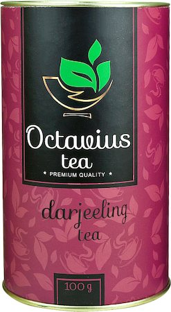 Octavius Whole Leaf Darjeeling Black Tea - Premium Gift Caddy, 100 gm