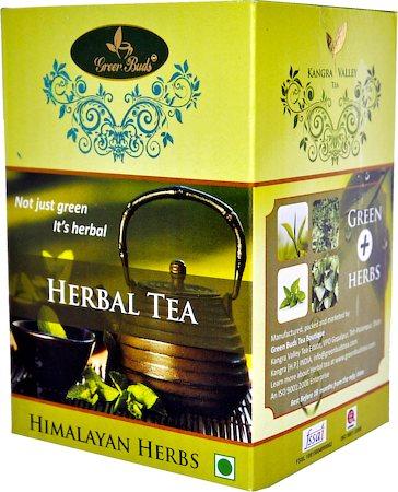 GreenBuds Kangra Herbal Green Tea, Loose Leaf 150 gm