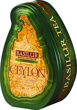 Basilur The Island of Tea Ceylon Green Loose Leaf 100 gm Caddy