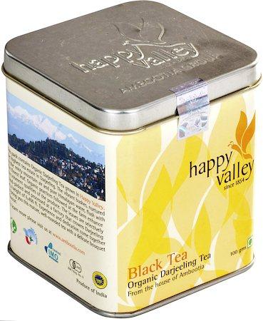 Happy Valley Organic Darjeeling Black Tea, Whole Leaf 100 gm
