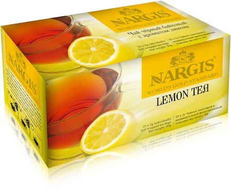 Nargis Lemon Loose Leaf Black Tea (25 tea bags)