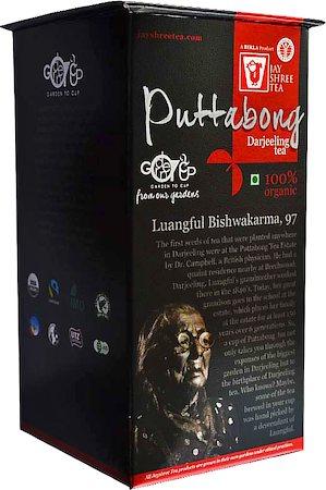 JayShree Darjeeling Puttabong Organic Black Tea, Whole Leaf 100 gm