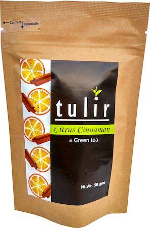 Tulir Citrus Cinnamon Green Tea, Loose Leaf 50 gm