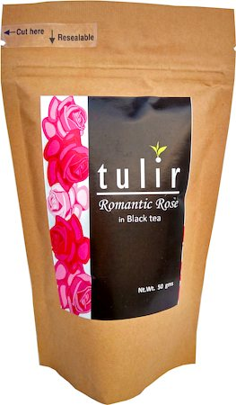 Tulir Romantic Rose Black Tea, Loose Leaf 50 gm