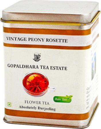 Gopaldhara Vintage Peony Rosette Flower Tea, 25 gm Caddy