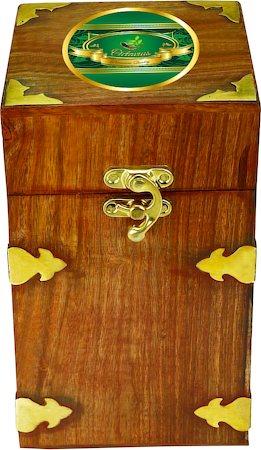 Octavius Whole Leaf Darjeeling Black Tea - Vintage Gift Wooden Box, 200 gm