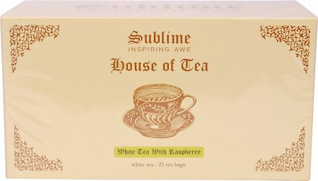 Sublime White Tea with Raspberry (25 Pyramid tea bags)