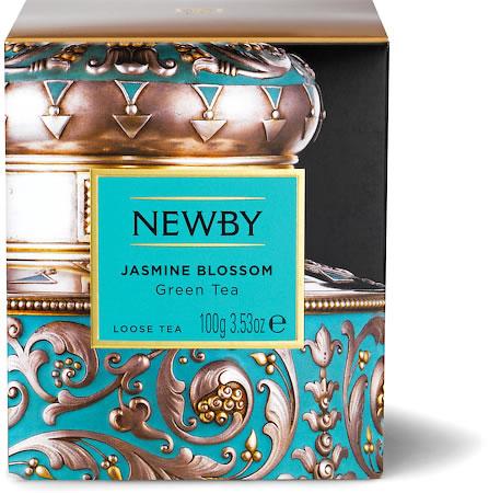 Newby Heritage Jasmine Blossom Loose Leaf Tea, 100 gm Carton