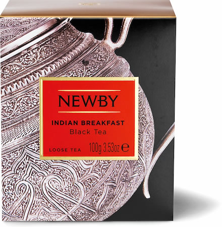 Newby Heritage Indian Breakfast Loose Leaf Black Tea, 100 gm Carton