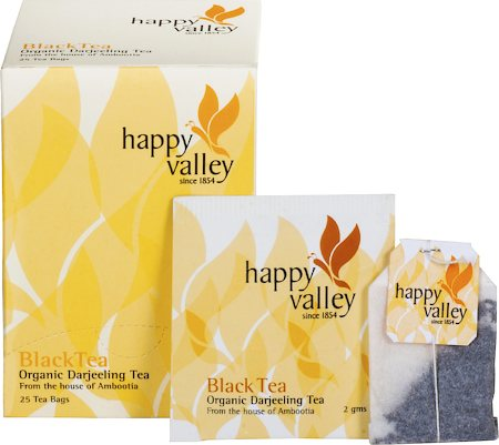 Happy Valley Organic Darjeeling Black Tea (25 tea bags)