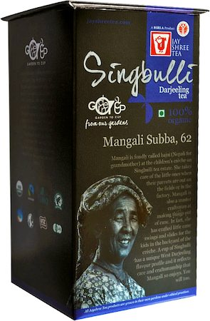 JayShree Darjeeling Singbulli Organic Black Tea, Whole Leaf 100 gm