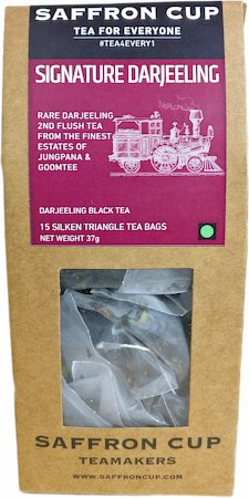 Saffron Cup Signature Darjeeling Black Tea (15 Pyramid tea bags)