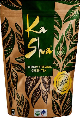 Kasha Premium Organic Loose Leaf Green Tea, 100 gm