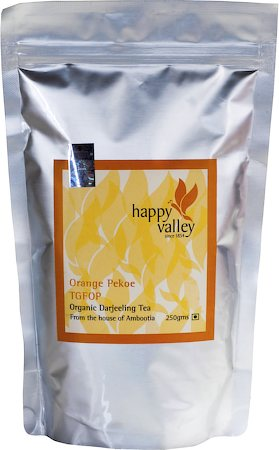 Happy Valley Organic Darjeeling Black Tea (TGFOP), 250 gm