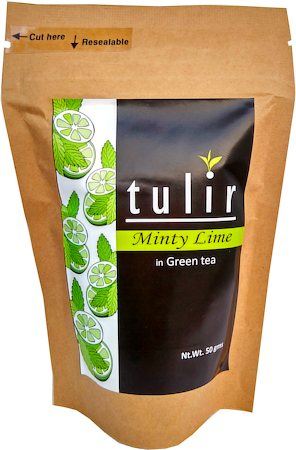 Tulir Minty Lime Green Tea, Loose Leaf 50 gm