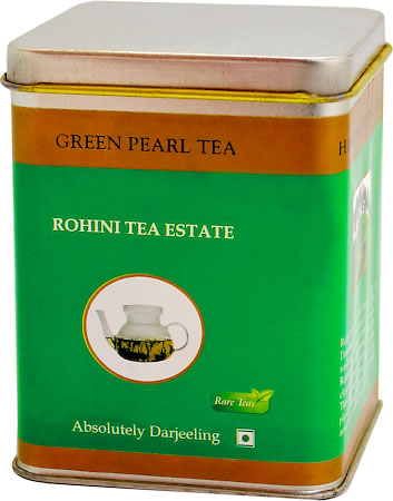 Rohini Green Pearl Tea, Loose Leaf 50 gm Caddy