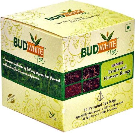 Budwhite Fruits and Flowers Tea Combo (16 Pyramid tea bags)
