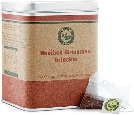 Dancing Leaf Rooibos Cinnamon Infusion Tea Caddy (25 Pyramid tea bags)