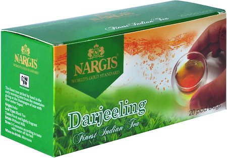 Nargis Darjeeling Finest Loose Leaf Black Tea (20 pod bags)