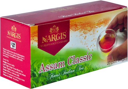 Nargis Assam Classic New Season Finest Loose Leaf Black Tea (20 pod bags)