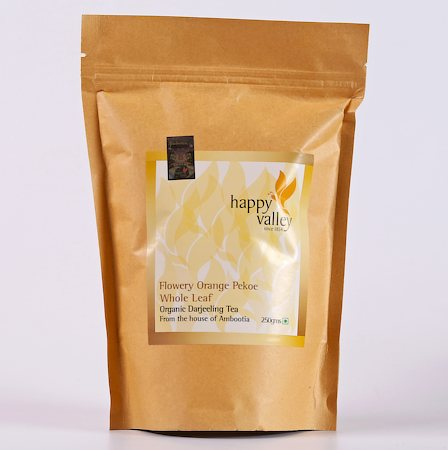 Happy Valley Organic Darjeeling Black Tea, Whole Leaf 250 gm