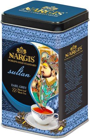 Nargis Sultan Earl Grey Tea, Loose Whole Leaf 200 gm Premium Caddy