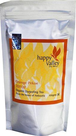 Happy Valley Organic Darjeeling Black Tea (TGFOP), 100 gm