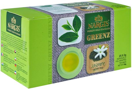 Nargis Greenz Jasmine Organic Green Tea (25 tea bags)