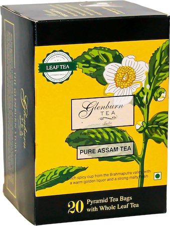 Glenburn Pure Assam Tea, Whole Leaf (20 Pyramid tea bags)