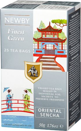 Newby Finest Green Oriental Sencha Tea (25 tea bags)