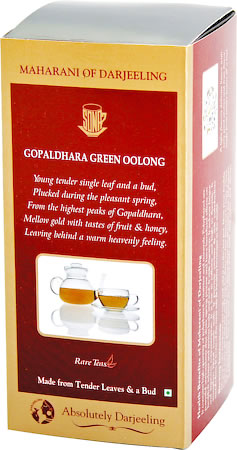 Gopaldhara Green Oolong Maharani of Darjeeling, Loose Leaf Tea 50 gm