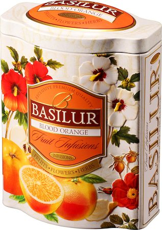 Basilur Fruit Infusions Blood Orange Loose Leaf 100 gm Caddy