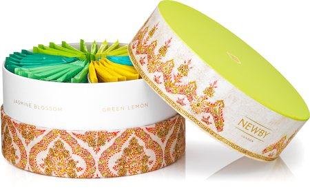 Newby Green Tea Crown Assortment - Circular Luxury Gift Box (36 finest tea bags)