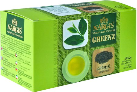 Nargis Greenz Natural Organic Green Tea (25 tea bags)