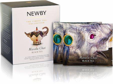 Newby Silken Pyramids - Masala Chai Tea (10 Pyramid tea bags)