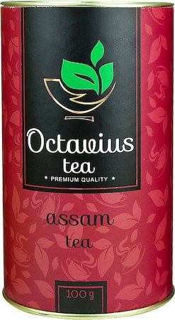 Octavius Whole Leaf Assam Black Tea - Premium Gift Caddy, 100 gm