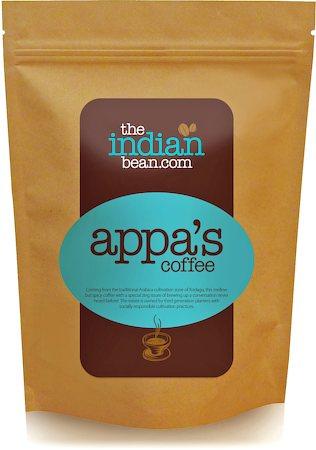 The Indian Bean Appa's 100% Arabica Coffee, Beans 250 gm