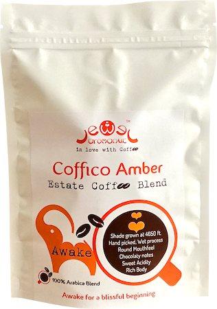 Coffico Amber Awake 100% Arabica Blend Coffee, Fine Grind 250 gm