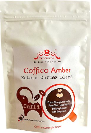 Coffico Amber Caffi 100% Pure Filter Coffee, Fine Grind 250 gm