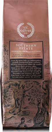 Southern Estate Medium Roast Premium Coffee, Whole Beans 250 gm