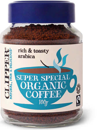 Clipper Super Special Organic Freeze Dried Medium Roast Instant Coffee, 100 gm