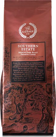 Southern Estate Medium Dark Roast Premium Coffee, Whole Beans 250 gm
